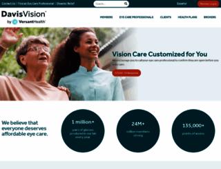 davisvision.com screenshot