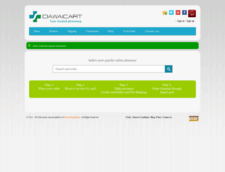 dawaicart.com screenshot