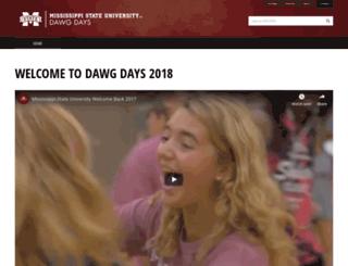 dawgdaze.msstate.edu screenshot