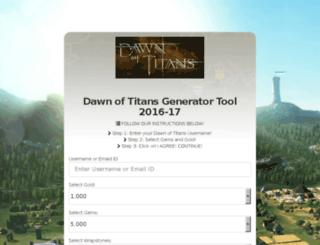 dawnoftitans.generater.website screenshot