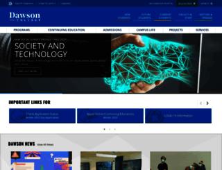 dawsoncollege.qc.ca screenshot