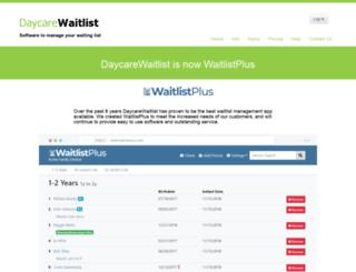 daycarewaitlist.com screenshot
