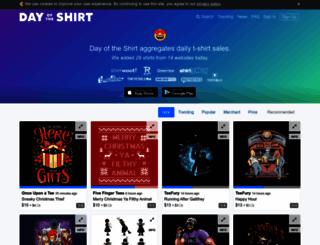 dayoftheshirt.com screenshot