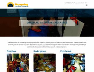dayspringpreschool.com screenshot