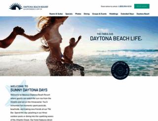 daytonabeachresort.com screenshot