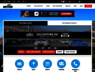 daytonainternationalspeedway.com screenshot