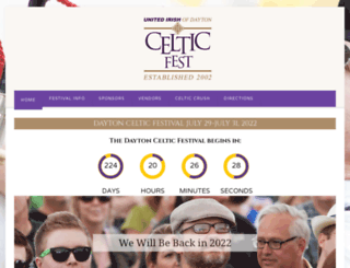 daytoncelticfestival.com screenshot
