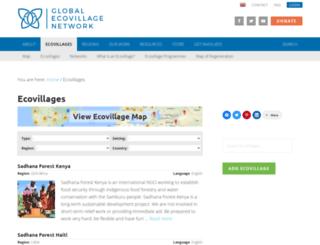 db.ecovillage.org screenshot
