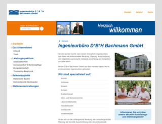 dbh-bachmann.de screenshot