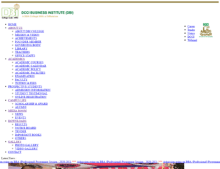 dbicollege.edu.bd screenshot