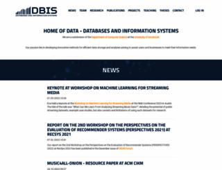 dbis-informatik.uibk.ac.at screenshot