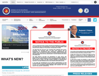 dbm.gov.ph screenshot