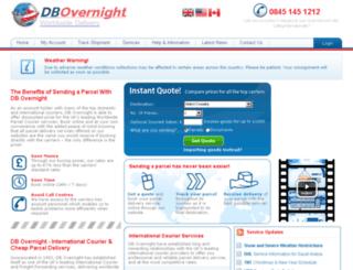 dbovernight.com screenshot