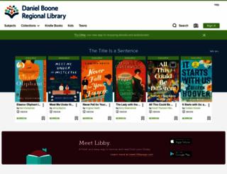 dbrl.libraryreserve.com screenshot