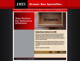 dbsdrawers.com screenshot