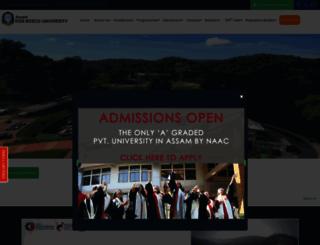 dbuniversity.ac.in screenshot