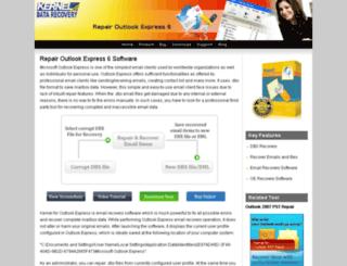 dbx.repairoutlookexpress6.net screenshot