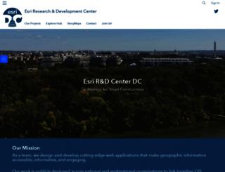 dc.esri.com screenshot