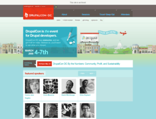 dc2009.drupalcon.org screenshot
