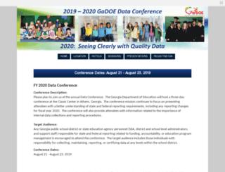 dcconference.gadoe.org screenshot
