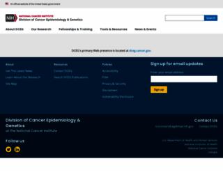 dceg2.cancer.gov screenshot