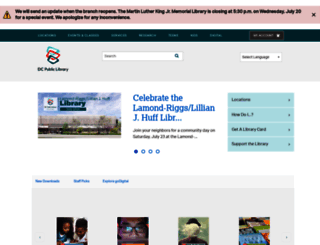 dclibrary.org screenshot