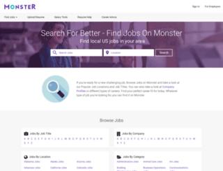 dcourierjobs.monster.com screenshot