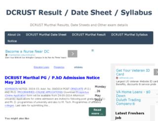 dcrust-result-datesheet.blogspot.com screenshot
