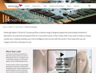 dcs.napier.ac.uk screenshot