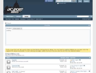 dcsportbikes.com screenshot