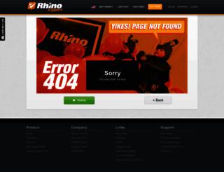 dcsx.rhinosupport.com screenshot