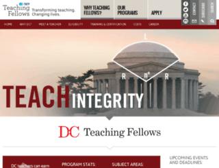 dcteachingfellows.org screenshot