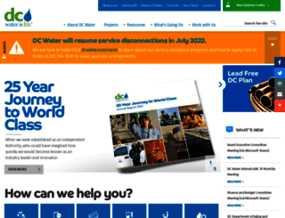 dcwater.com screenshot