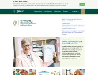 dcya.gov.ie screenshot