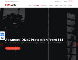 ddoscure.com screenshot