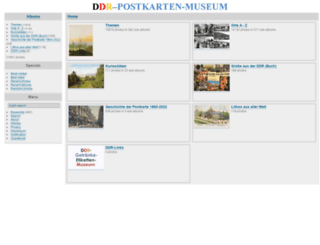 ddr-postkarten-museum.de screenshot