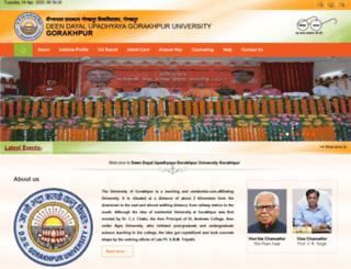 ddugu.edu.in screenshot