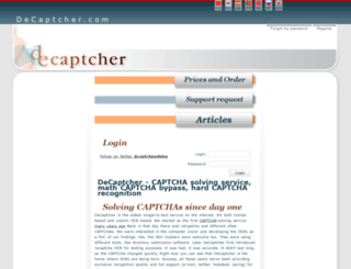 de-captcher.info screenshot