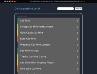 de-luxecarhire.co.uk screenshot