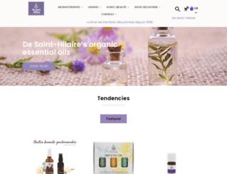 de-sainthilaire.com screenshot