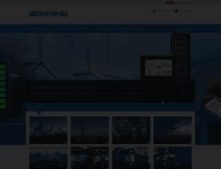 de.benning.de screenshot