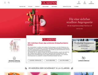 de.clarins.com screenshot