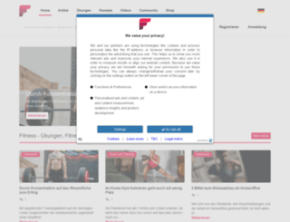 de.fitness.com screenshot