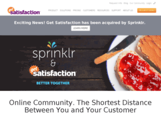 de.getsatisfaction.com screenshot