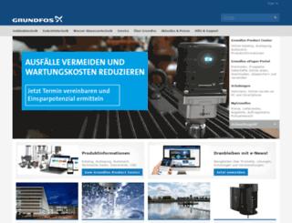 de.grundfos.com screenshot