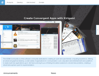 de.kde.org screenshot