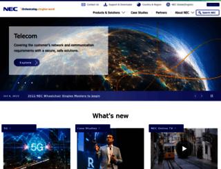 de.nec.com screenshot