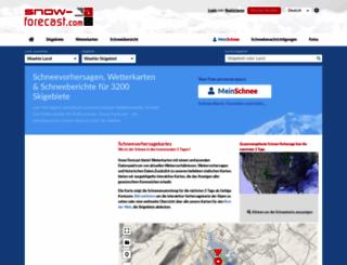 de.snow-forecast.com screenshot