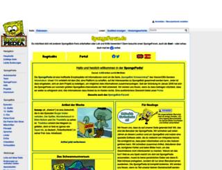 de.spongepedia.org screenshot
