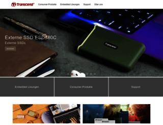de.transcend-info.com screenshot